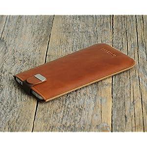 iPhone 7 Plus, 6s, 6 , SE , 5s , 5 Hülle Tasche Cover Leder Etui Case personalisiert durch Prägung mit ihrem Namen...