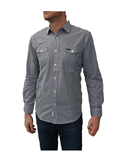 Lee Cooper Herren Freizeit-Hemd Blau - Blau