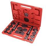 Ncient 21teilig Bremskolbenrücksteller Kolbenrücksteller Rücksteller Werkzeug Bremsbacken-Set Bremsenrücksteller mit Koffern 12.7 x 9.8 Zoll