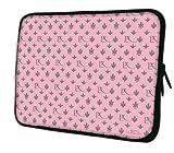 Luxburg® Design Laptoptasche Notebooktasche Sleeve für 13,3 Zoll (auch in 10,2 Zoll | 12,1 Zoll | 13,3 Zoll | 14,2 Zoll | 15,6 Zoll | 17,3 Zoll) , Motiv: LX Muster pink / grau