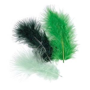 Gütermann / KnorrPrandell 6619944 - Plumas de marabú Mezcla de Color Verde Oscuro de 9 cm, 15 Piezas / Bolsa Importado de Alemania