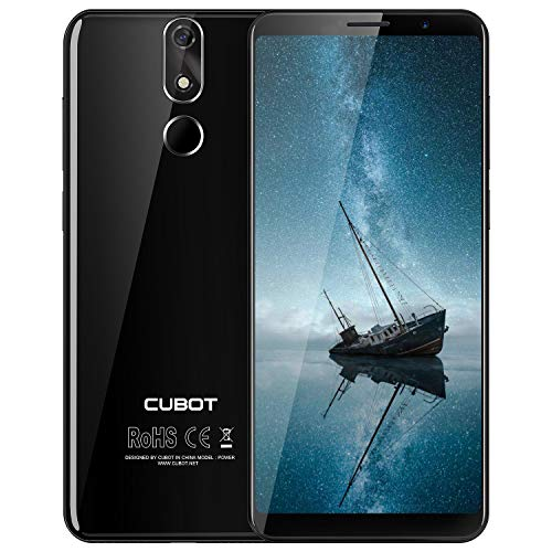 cubot power smartphone 5.99 pollici fhd, 2168 * 1080px, 128gb rom 6gb ram, 6000mah, android 8.1, fotocmara 20 mp+ 13mp, dual sim, gps, 4g cellulare nero