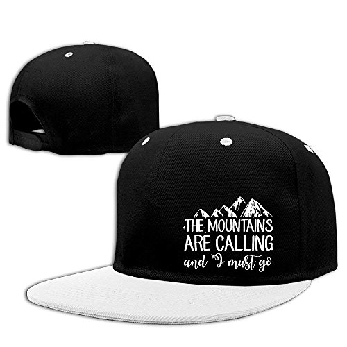 Aeykis The Mountains Are Calling and I Must Go Hip Hop Baseball Caps Breathable Flat Bill Plain Snapback Hats Kellygreen