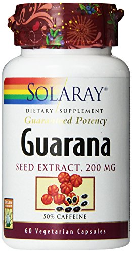Solaray Guarana Seed Extract Supplement, 200mg, 60