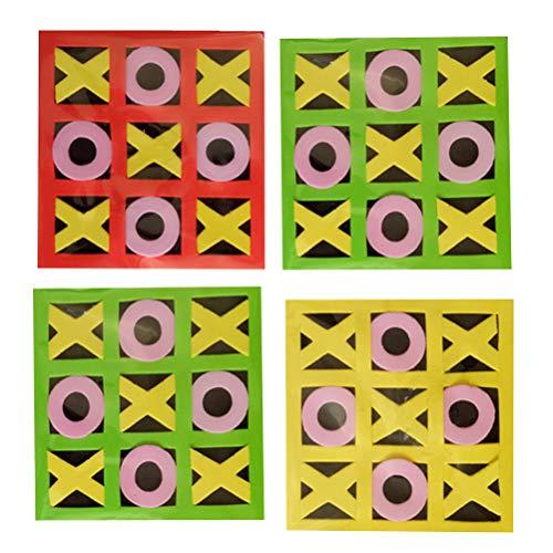 Tic-Tac-Toe Spiel Schachbrett Eltern-Kind-Interaktion Freizeit Spielbrett Inte lligent Lernspielzeug (Mischfarbe) ()