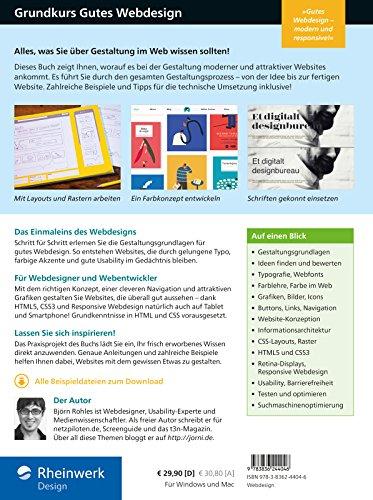 Grundkurs gutes Webdesign: Alles, was Sie über Gestaltung im Web wissen müssen, für moderne und attraktive Websites, die jeder gerne besucht!