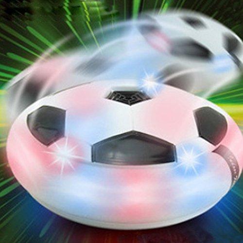 Preisvergleich Produktbild Air Power Soccer Disk Schwebender Luftkissen Indoor Fussball Flashing mit LED Spielzeug Fußball (weiß)