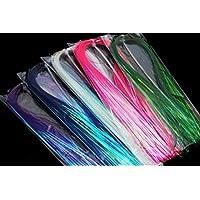Material para atar en 5 colores mezclados de efecto holográfico, 1 mm