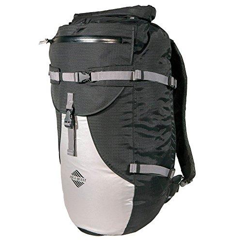 Aqua Quest Stylin schwarz und reflektierende Rucksack 30L wasserdicht mit Roll Top für Männer, Frauen, Studenten