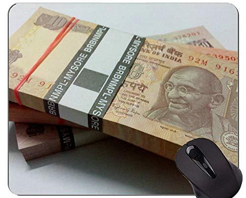Mausunterlage mit Rastkante, Bargeld, Münze indische Währung Office Mouse Pad