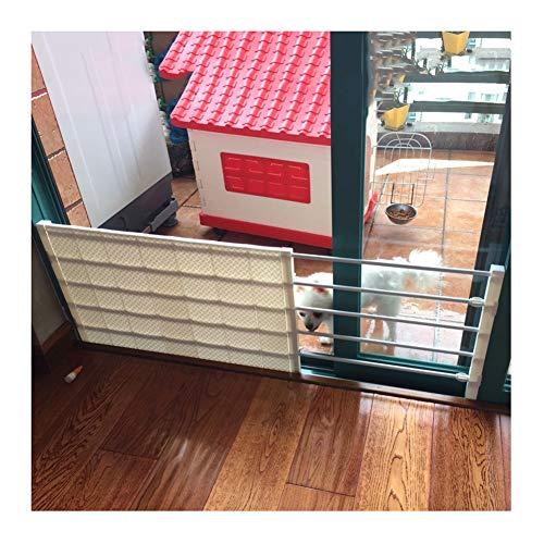 WHAIYAO Treppenschutzgitter Pet Tor Isolationstür Zäune Panel Geländer Einstellbar An Der Wand Montiert, Schlagfreie Installation (Color : White, Size : 55x24cm)