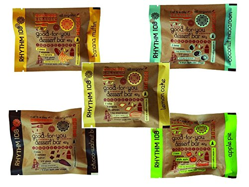Rhythm108 Organic Dessert Bars Mixed Case 10 x 42g Bars Test