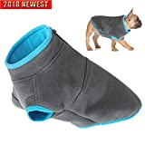 Petsking Dog Cold Weather Coats Windproof Warm Vest Fleece Clothes for Small Dogs Winter Apparel with Top Half Zipper Pullover Design Dog Warm Jacket