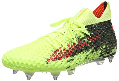 Puma Herren Future 18.1 Netfit Mx SG Fizzy 104366 01 Fußballschuhe, Gelb Yellow-Red Blast Black, 42 EU (Puma Fußballschuh Sg)