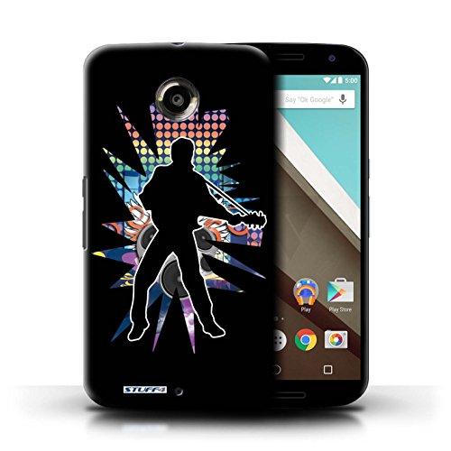 Kobalt® Imprimé Etui / Coque pour Motorola Nexus 6 / Elvis Noir conception / Série Rock Star Pose Elvis Noir