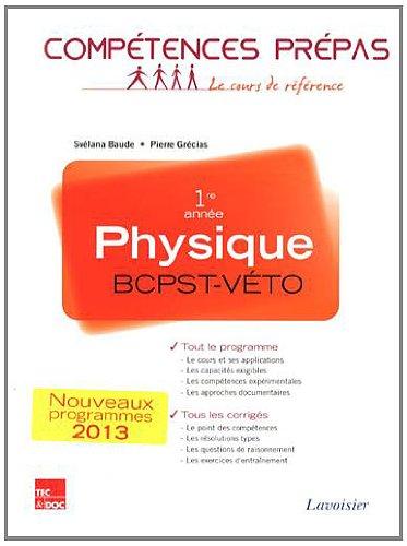 Physique 1re année BCPST-Véto par Svélana Baude