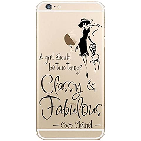 iPhone 6s plus Case, iPhone 6 plus Case, Ranrou case,Ranrou Soft TPU Silicone Clear Cases for iPhone 6 plus 6s plus -fashion girls