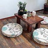 Stuoia di meditazione di zen/stuoia di yoga/stuoia mobile della finestra di tè/cuscino di tatami spessi-L diametro60cm(24inch)