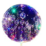 LED Bobo Balloons Palloncini trasparenti di forma rotonda Palloncini luminosi lampeggianti per la festa di San Valentino Decorazione natalizia (10PCS)
