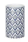 Wenko Keramik Zahnputzbecher Lorca, blau, Dunkelblau, 6.5 x 6.5 x 11 cm
