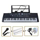 61 touches multi-fonctions clavier avec clavier électronique et autocollants exclusifs de note pour clavier par IVALLEY