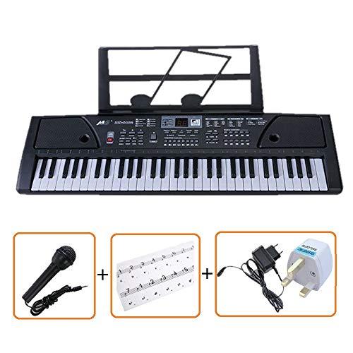 61 SCHLÜSSEL MULTI FUNKTIONEN ELEKTRONISCHE TASTATUR PIANO Bundle mit einer exklusiven Tastatur Hinweis Aufkleber von IVALLEY - Für Aufkleber Piano Schlüssel