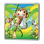 Monkey & Banana Light Switch Sticker Vinyl/Skin cover sw57