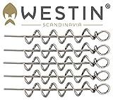Westin Pro Shallow Screw - 5 Spiralen 4,7cm für Gummifische, Spiraladapter für Gummiköder, Korkenzieher für Gummifisch