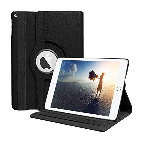 MOCA 360 Degree Rotating Stand PU Leather Folio Smart Flip Case for...