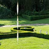 Edelstahl Windspiel - Glanzspirale M - lichtreflektierend - Länge: 71cm - inkl. Aufhängung