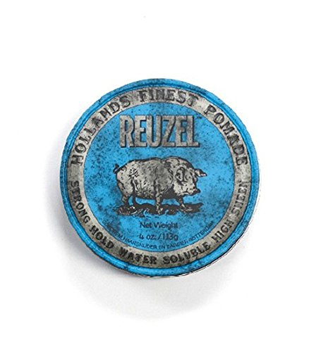 REUZEL Blue Strong Hold High Sheen Pomade, 1er - Pommade Wachs Männer