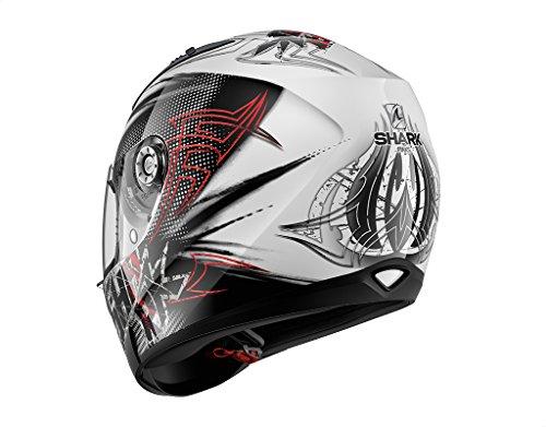 Shark casco di moto ridill finks wkr, nero/rosso, taglia m