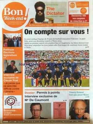 BON WEEK END [No 3] du 15/06/2012 - ON COMPTE SUR ...