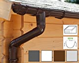 Dachrinnen/Regenrinnen Set | Pultdach (1 Dachseite) | GD16 | in 4 Farben! (Komplettes Set bis 3.50 m, Braun)