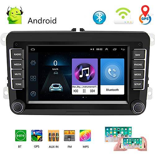 """Autoradio 2 Din 7""""Lecteur multimédia multimédia pour Voiture Android 8.1 Autoradio autoradio de Navigation stéréo pour WiFi GPS pour Skoda V/W Passat B6 Polo Golf"""