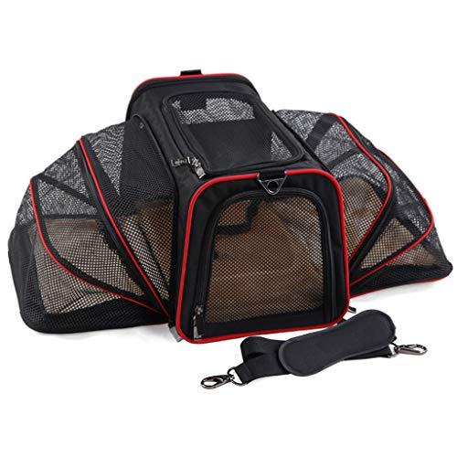 Duzhengzhou Haustier-faltende Tasche, Autositz-Katzen-Hundewelpen-tragbarer Reise-Käfig-Gepäck-Grill (Size : 4-S40.5 * 25.5 * 25.5cm)
