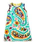 BesserBay Mädchen Blumen Kleider A-Linie Casual Sommerkleider 3018 7T