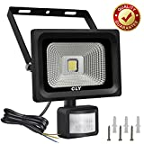 CLY Security Lights with Motion Sensor, 10W LED Floodlight Super Bright 1000Lumen PIR