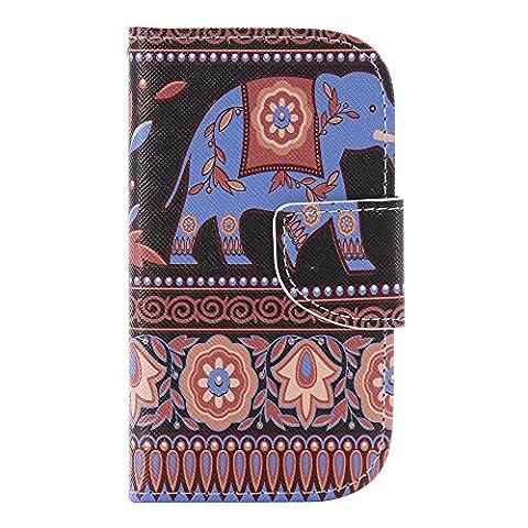 Nancen Samsung Galaxy S3 Mini / I8190 (4,0 pouces) Coque Housse de Protection Coloré Étui en Cuir PU Wallet Portefeuille Flip Case Silicone Souple TPU Intérieure Couverture Cover avec Function Support et Porte-cartes
