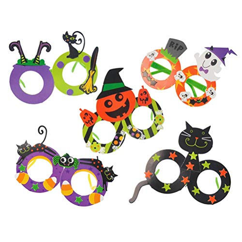 Amosfun 5pcs Halloween Party Brille Halloween Kostüm Brillen Eltern-Kind DIY Brillen