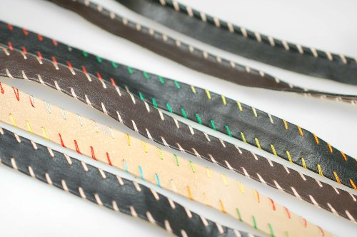 Neotrims Faux Imitation Leather PU Ribbon Trim Tape Border. Edging With or Without Piping, Ideal for Crafts, Garments, Dressmaking& Coach Pram.Plain Solid Colours with Beige or Multi Coloured Stitching. Faux Leather Trim Jacket