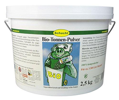 Biotonnen Mülltonnen Pulver 2,5 kg Schacht