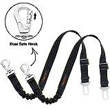 iBuddy Cintura di Sicurezza per Cani,Regolabile in Nylon Durevole Cane Gatto Cintura per Seggiolino con Elastico Ammortizza Colpi Passeggiare per Cani Piccoli e Medi,Confezione da 2
