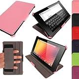 iGadgitz U2571 7' Dossier Rose étui pour tablette - Étuis pour tablette (Dossier, Google, Google Nexus 7 FHD, 17,8 cm (7'), Rose)