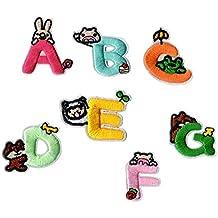 Juego de 26 letras inglesas bordadas para planchar y coser ropa decoración longyitrade