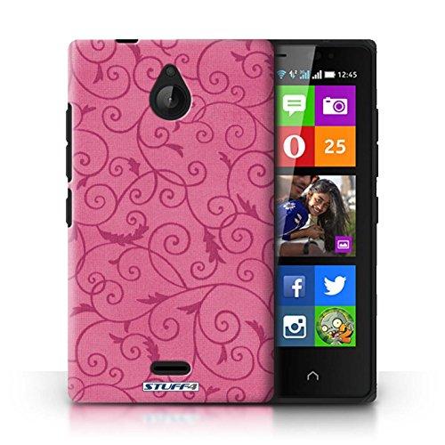 Kobalt® Imprimé Etui / Coque pour Nokia X2 Dual Sim / Pourpre conception / Série Motif de la vigne Rose