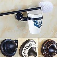 Antiquariato nero spazzola per WC titolare bronzo scuro bagno lavare gli utensili wc portaspazzole impostare bagno di lavaggio