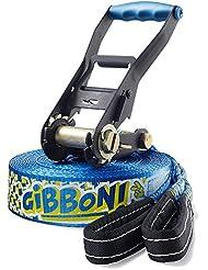 Gibbon Slacklines Fun Line - Set de accesorios para slackline, color azul, talla única