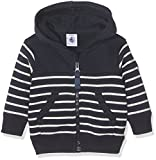 Petit Bateau Sht A, Sweat-Shirt a Capuche Bebe Garcon, Multicolore (Smoking/Coquille), 3 Mois (Taille Fabricant: 3 MOIS)