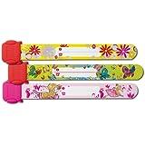Sigel SY391 - Pulseras identificativas para niña (19,7cm, 3 unidades), diseño de bailarina, mariposas y flores
